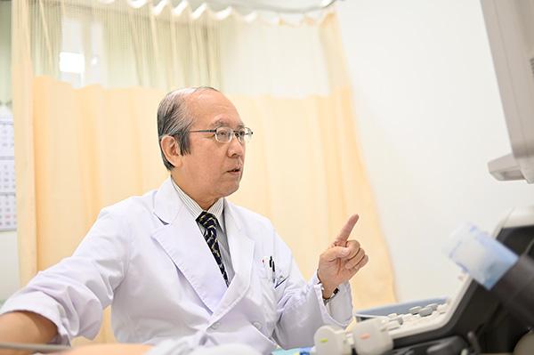 「新・心エコーの読み方、考え方」の著者でもある羽田先生